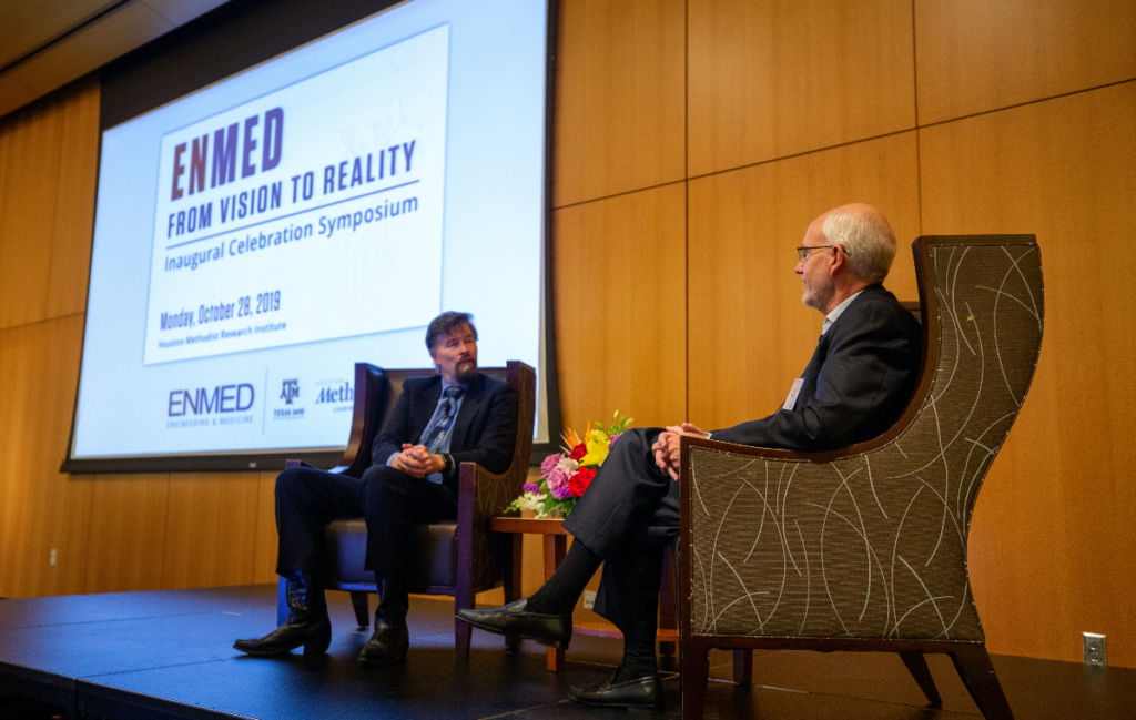"""The new Engineering Medicine program at Texas A&M University and its first students received an official welcome this week with """"EnMed: From Vision to Reality"""" — a joint inaugural symposium. The event, hosted by Houston Methodist Hospital and Texas A&M, celebrated the program's launch and debut class of physician-engineers."""