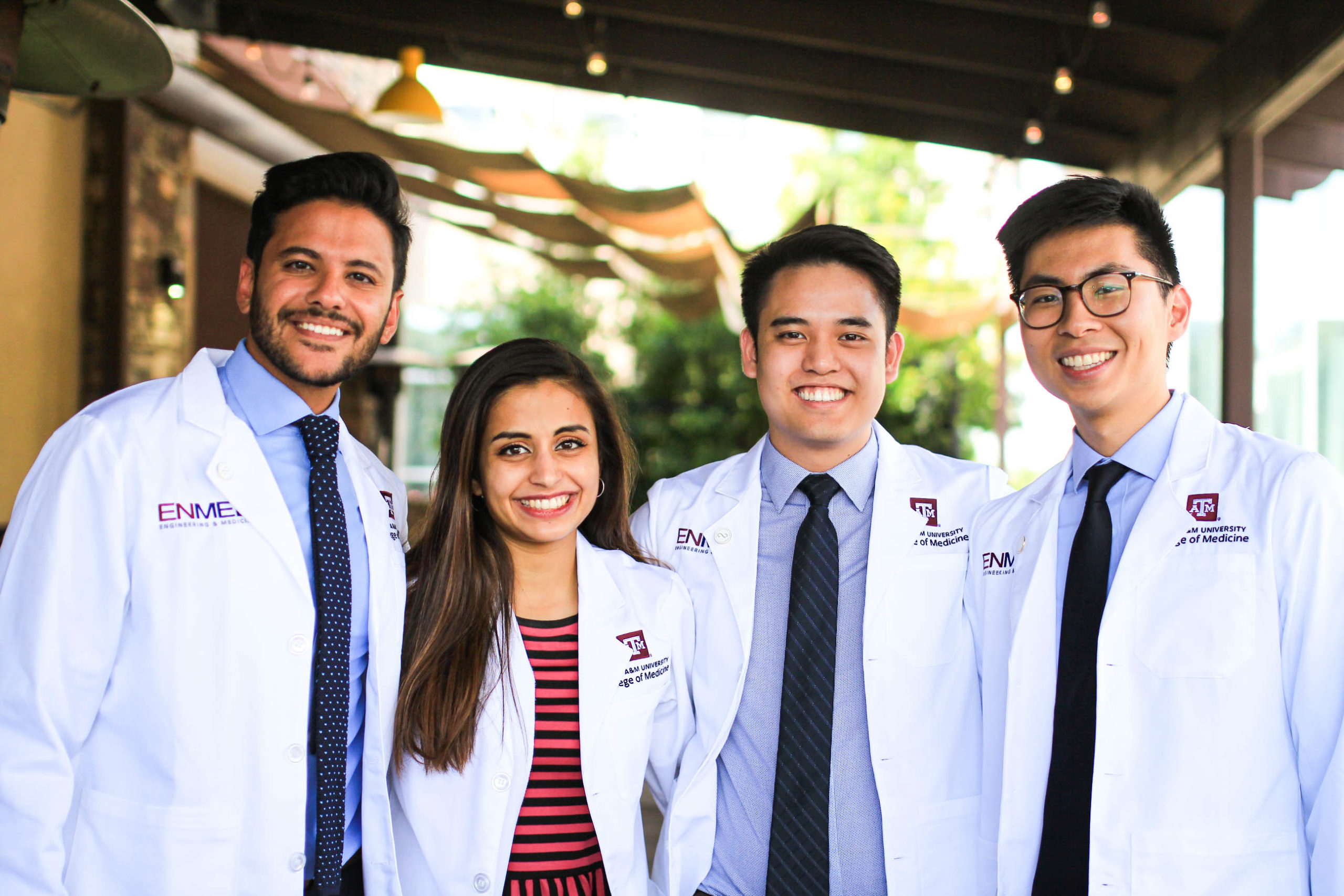 EnMed students graduate with medical doctorates and masters of engineering degrees in four years.